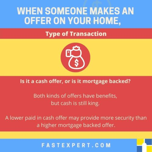 Infographic When someone makes an offer on your home, type of transaction